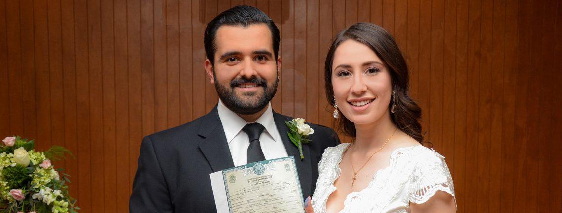 Contraen matrimonio civil